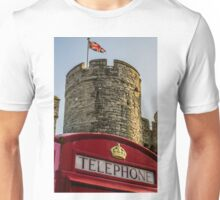 British Telephone box in Canterbury Unisex T-Shirt