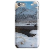 Early morning light at Lagangarbh Hut Glencoe Scottish Highlands iPhone Case/Skin