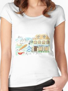Le Gruyere Women's Fitted Scoop T-Shirt