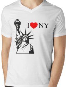Splash I <3 NY Daryl Hannah Tom Hanks Mermaid Madison Mens V-Neck T-Shirt