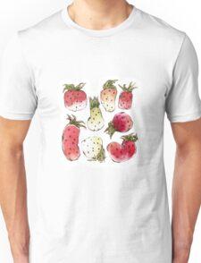 Watercolor Strawberries Unisex T-Shirt