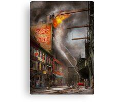 Fireman - New York NY - Show me a sign 1916 Canvas Print