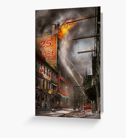 Fireman - New York NY - Show me a sign 1916 Greeting Card