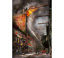 Fireman - New York NY - Show me a sign 1916 Photographic Print
