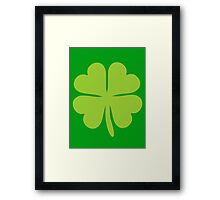 Lucky Irish Shamrock Clover Framed Print