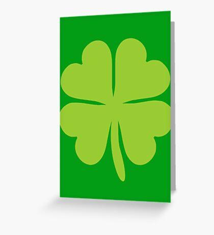 Lucky Irish Shamrock Clover Greeting Card