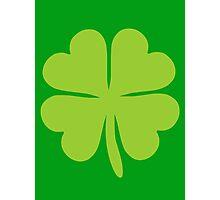 Lucky Irish Shamrock Clover Photographic Print