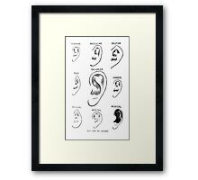 ear types Framed Print