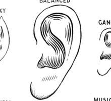 ear types Sticker