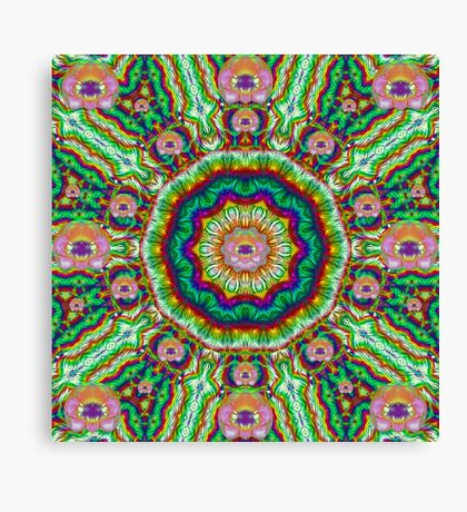 Flower Chakra Of Healing Floral Canvas Print