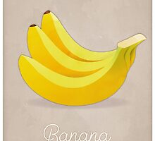 Banana (taupe) - Natural History Fruits by RedHillPrints