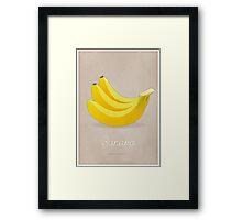 Banana (taupe) - Natural History Fruits Framed Print