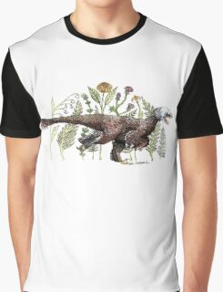Velociraptor and plant life Graphic T-Shirt