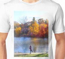 Little Girl Skipping Rocks Unisex T-Shirt