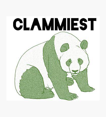 Clammiest Panda (Green) Photographic Print