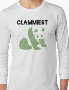 Clammiest Panda (Green) Long Sleeve T-Shirt