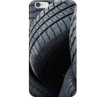 The wall of tyres iPhone Case/Skin