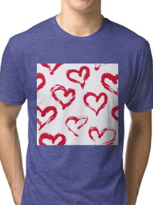 Ink brush HEARTS Tri-blend T-Shirt