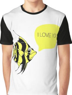 """I love you"" fish - matching ""I know"" fish Graphic T-Shirt"