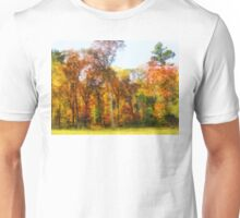 Row of Autumn Trees Unisex T-Shirt