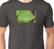 Rain Drop on Leaf Unisex T-Shirt