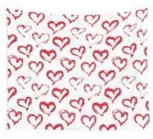 Ink brush HEARTS Wall Tapestry