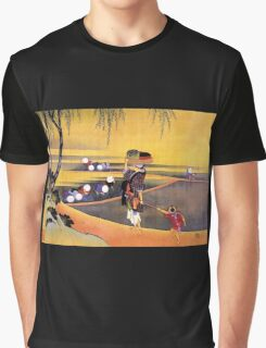 'Rice Fields' by Katsushika Hokusai (Reproduction) Graphic T-Shirt