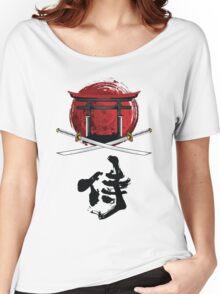 Samurai Katana Tori gate Kanji Women's Relaxed Fit T-Shirt