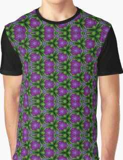 At Night the Purple Violets Bloom Graphic T-Shirt