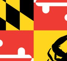 Maryland Crab Flag Sticker