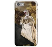 Whippet Art Canvas Print - The rural road and horseride Lady iPhone Case/Skin
