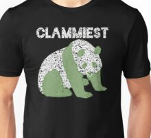 Clammiest Panda (Black, White, Green) Unisex T-Shirt