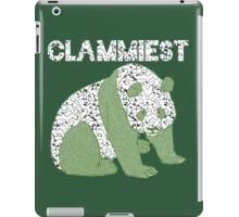Clammiest Panda (Black, White, Green) iPad Case/Skin