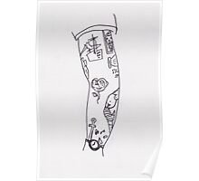 Poorly Drawn Harry Arm Tattoos Poster