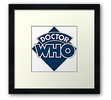 Dr who logo 1973-1980 Framed Print
