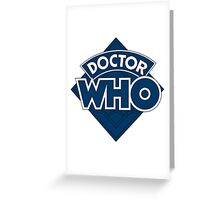 Dr who logo 1973-1980 Greeting Card