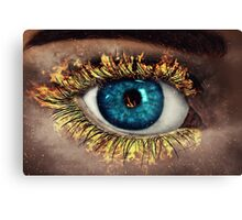 Eye in Flames Canvas Print