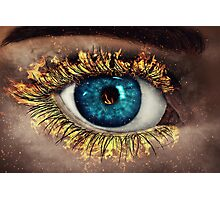 Eye in Flames Photographic Print