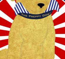 "Political Spoof Preppy Dog -""Make Preppy Great Again"" Sticker"