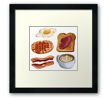 breakfast foods Framed Print