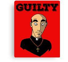 Guilty Priest Canvas Print