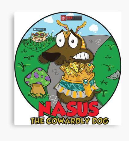 Nasus the cowardly dog! Canvas Print