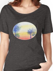 Sunset with Blue Trees Women's Relaxed Fit T-Shirt