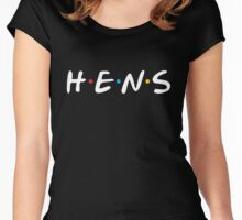 Hens Friends Style - White Women's Fitted Scoop T-Shirt