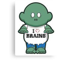 I <3 Brains Canvas Print