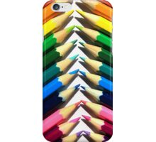 Angled Colored Pencils iPhone Case/Skin