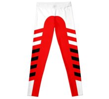 4:2 White/Black On Scarlet Leggings
