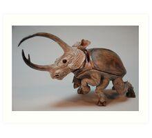 Rhinoceros Beetle Art Print