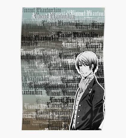 Vincent Phantomhive Lettering Poster