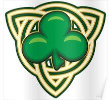 Saint Patricks Day Shamrock Emblem  Poster